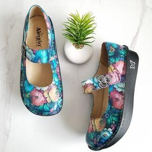Alegria Paloma Renessaince Floral Mary Jane Clogs